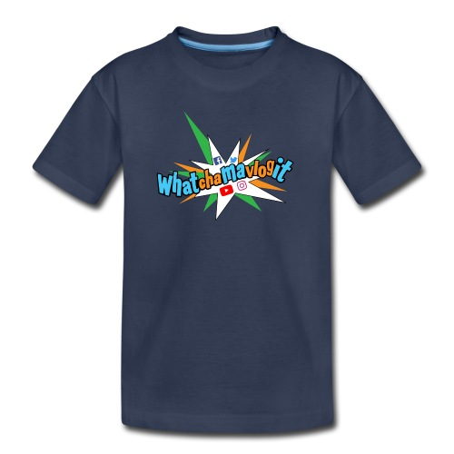 Whatchamavlogit Candy Toddler Shirt Blue Logo - Toddler Premium T-Shirt