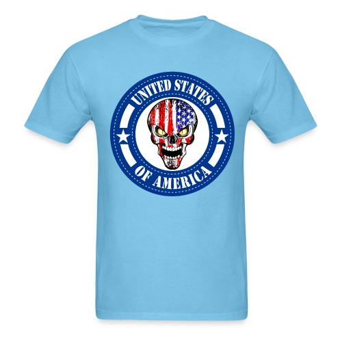 USA skull - Men's T-Shirt