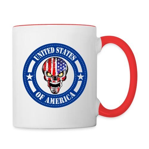 USA skull - Contrast Coffee Mug