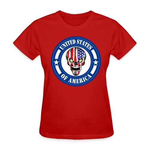 USA skull - Women's T-Shirt