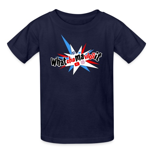 Whatchamavlogit Candy Kids Shirt Black Logo - Kids' T-Shirt