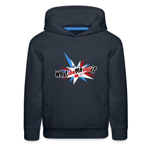 Whatchamavlogit Candy Kids Hoodie Black Logo - Kids' Premium Hoodie