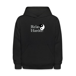 Relax Harder! T-Shirt - White Lettering on Dark - Kids' Hoodie