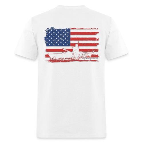 Kayak Flag on Back - Men's T-Shirt