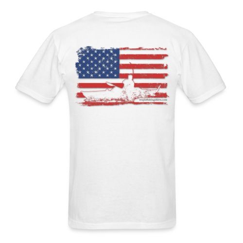 Kayak Flag on Back - Men's T-Shirt