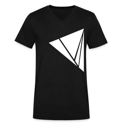 Explode in White - Men's V-Neck T-Shirt by Canvas