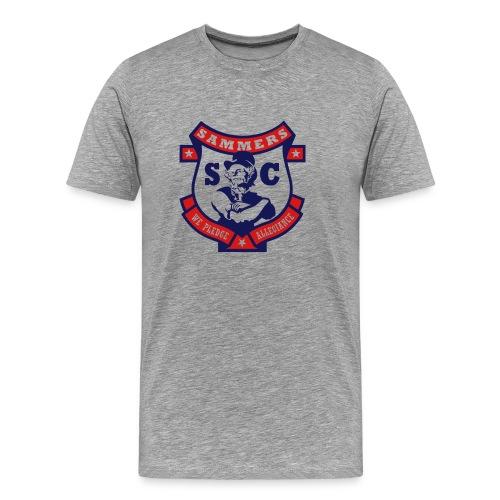 Sammers Logo – Men's Gray Tee - Men's Premium T-Shirt