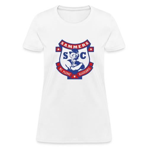 Sammers Logo – Ladies' White Tee - Women's T-Shirt