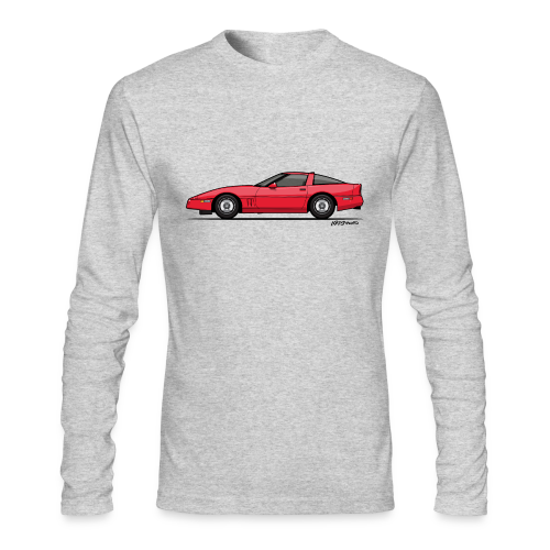 Red American C4 Coupe 1984 - Men's Long Sleeve T-Shirt by Next Level