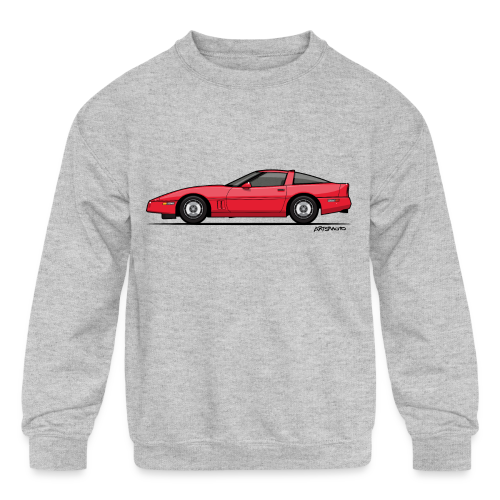 Red American C4 Coupe 1984 - Kids' Crewneck Sweatshirt