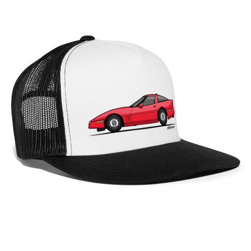 Red American C4 Coupe 1984 - Trucker Cap