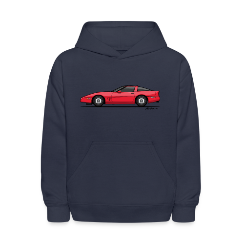Red American C4 Coupe 1984 - Kids' Hoodie