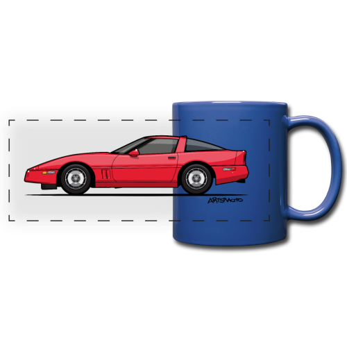 Red American C4 Coupe 1984 - Full Color Panoramic Mug