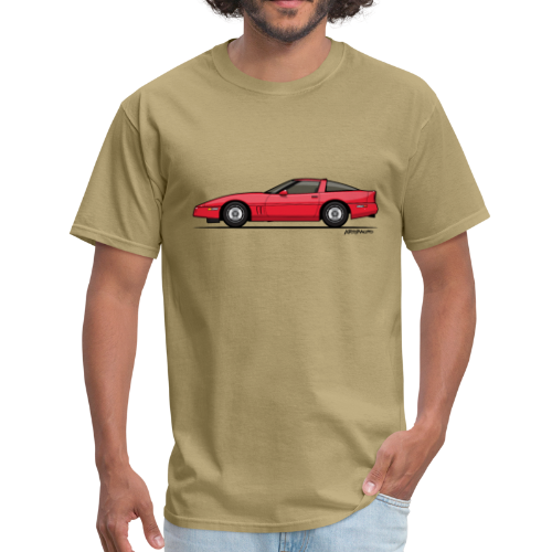 Red American C4 Coupe 1984 - Men's T-Shirt