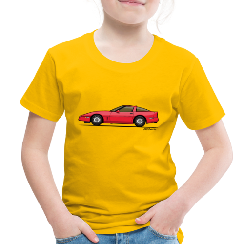 Red American C4 Coupe 1984 - Toddler Premium T-Shirt