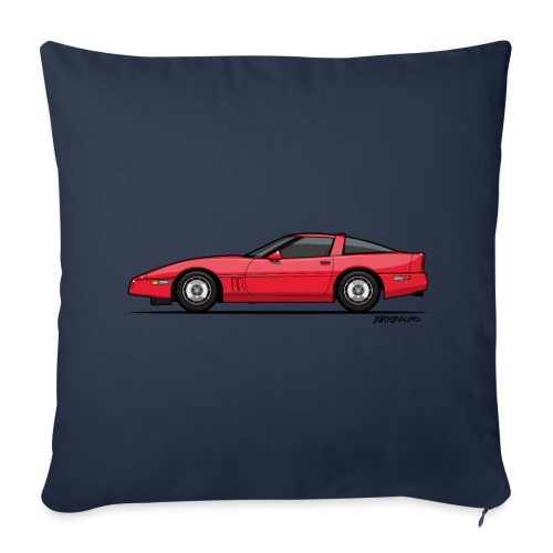 Red American C4 Coupe 1984 - Throw Pillow Cover