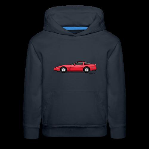 Red American C4 Coupe 1984 - Kids' Premium Hoodie