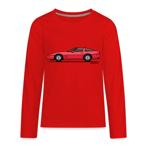 Red American C4 Coupe 1984 - Kids' Premium Long Sleeve T-Shirt