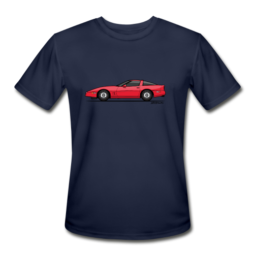 Red American C4 Coupe 1984 - Men's Moisture Wicking Performance T-Shirt