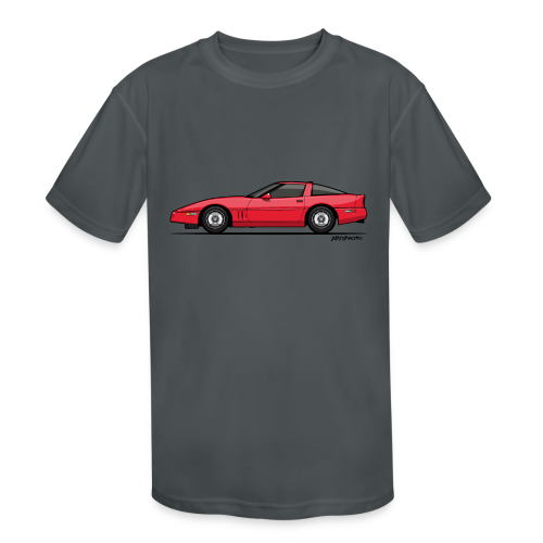 Red American C4 Coupe 1984 - Kids' Moisture Wicking Performance T-Shirt