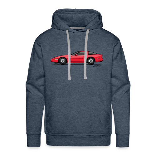 Red American C4 Coupe 1984 - Men's Premium Hoodie