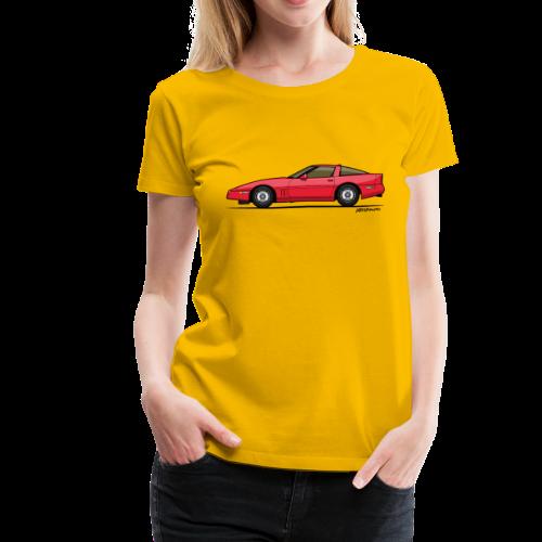 Red American C4 Coupe 1984 - Women's Premium T-Shirt