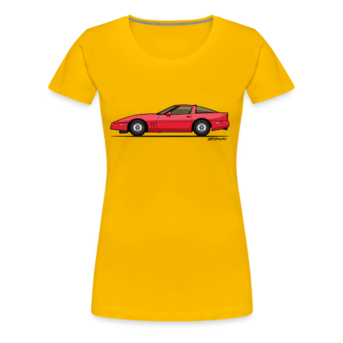 Red American C4 Coupe 1984 - Women's Premium T-Shirt