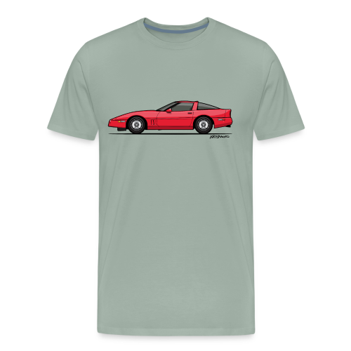 Red American C4 Coupe 1984 - Men's Premium T-Shirt