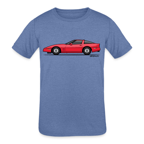 Red American C4 Coupe 1984 - Kids' Tri-Blend T-Shirt