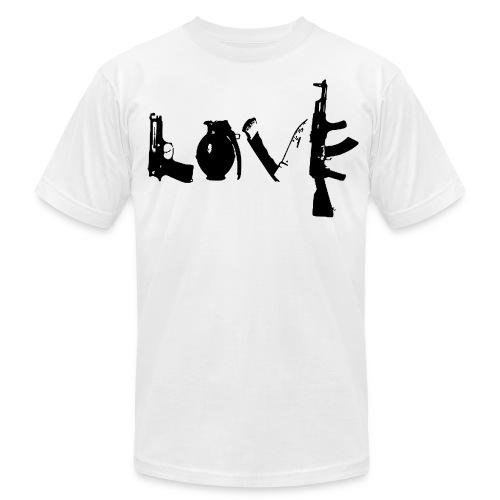 Make Love Not War - Men's Fine Jersey T-Shirt