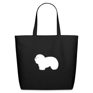 Eco-Friendly Cotton Tote - Coton de Tulear tote.