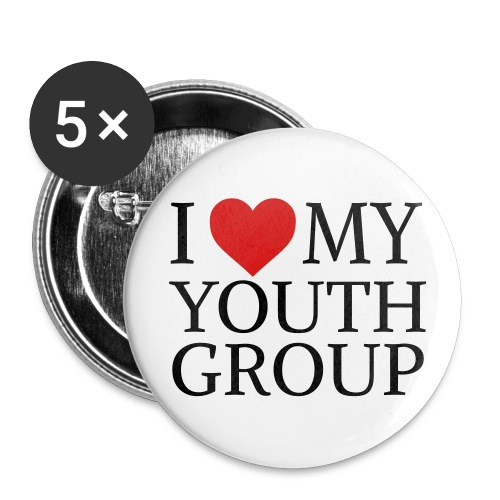 I Heart My Youth Group Button - 2.25 - Large Buttons