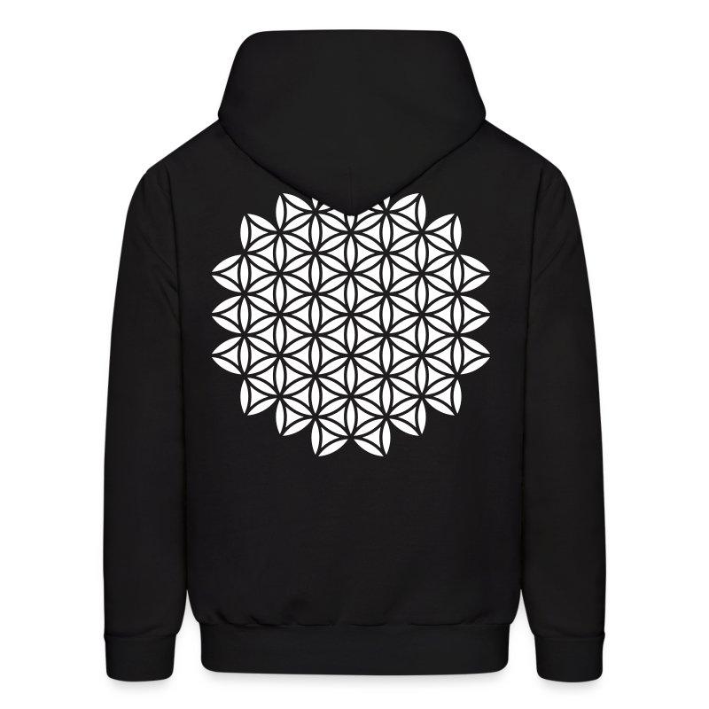 Fleur de la la vie - Flower of Life - Sacred Geometry, c, Healing Symbol,  Protection Symbol, Harmony, Balance - Men's Hoodie