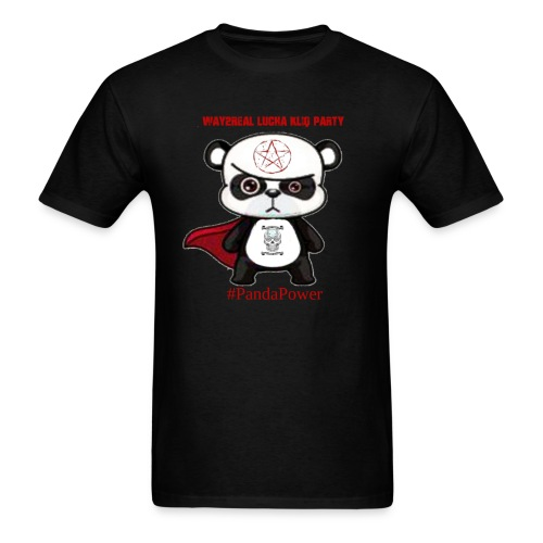 Way2Real Lucha Kliq Party Panda Power - Men's T-Shirt
