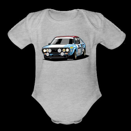 R17 Gordini 1974 Rally Car - Organic Short Sleeve Baby Bodysuit