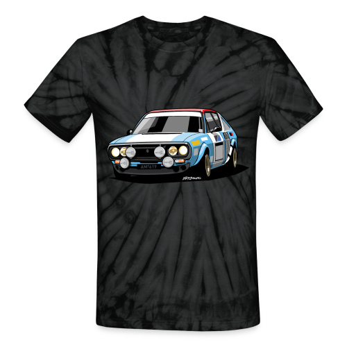R17 Gordini 1974 Rally Car - Unisex Tie Dye T-Shirt