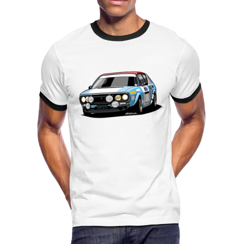 R17 Gordini 1974 Rally Car - Men's Ringer T-Shirt