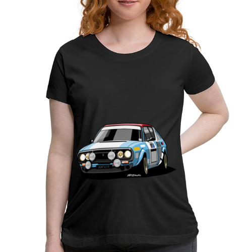 R17 Gordini 1974 Rally Car - Women's Maternity T-Shirt