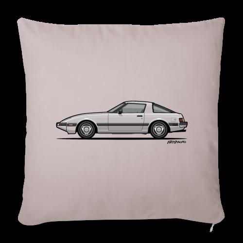 Mazda RX-7 RB Savanna Sunbeam Silver - Throw Pillow Cover