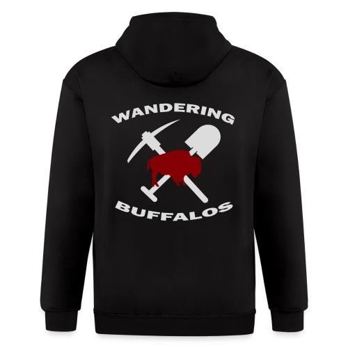 Wandering Buffalos Full Zip Hoodie - Men's Zip Hoodie