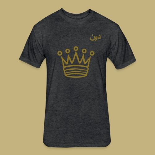 Dean (دين) Arabic Crowned Short Sleeve T-Shirt - Fitted Cotton/Poly T-Shirt by Next Level