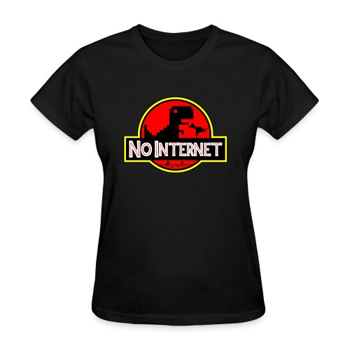 T-Rex ~ No Internet - Women's T-Shirt