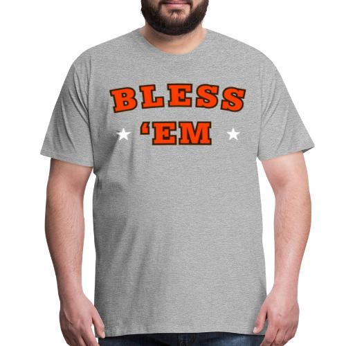 Bless 'Em Browns Heather Gray T-Shirt - Men's Premium T-Shirt