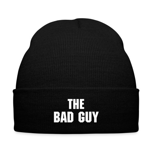Scott Hall ''The Bad Guy'' Retro 90's Black Knit Cap with Cuff Print - Knit Cap with Cuff Print