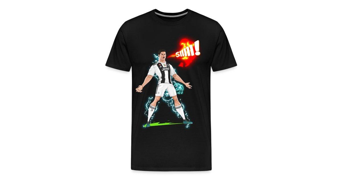 huge selection of 8a618 6af6f TFVGaming Merchandise | Ronaldo Juventus Sii! - Mens Premium T-Shirt