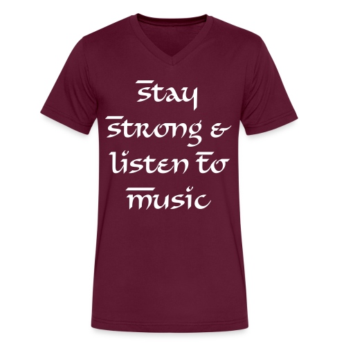 Stay Strong Male - Men's V-Neck T-Shirt by Canvas