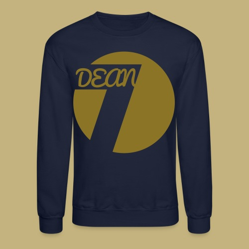 DEAN (7) Circle Men's Long Sleeve T-Shirt Navy Blue | GOLD LOGO | - Crewneck Sweatshirt
