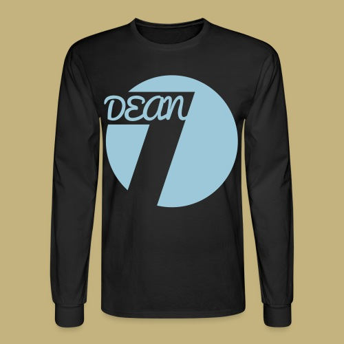 DEAN (7) Circle Men's Long Sleeve T-Shirt Light Blue - Men's Long Sleeve T-Shirt