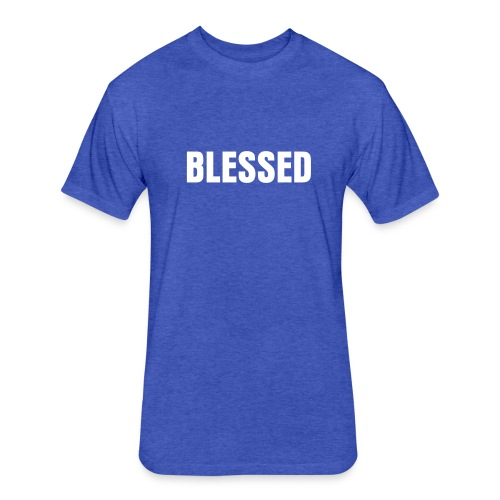 Blessed Fitted Tee - Fitted Cotton/Poly T-Shirt by Next Level