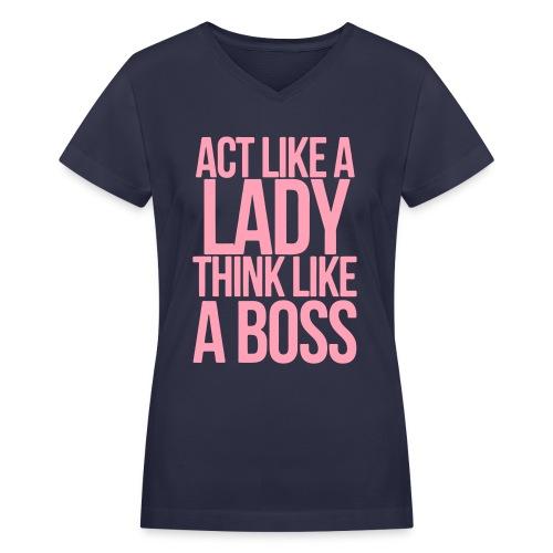 Boss [For Females] - Women's V-Neck T-Shirt